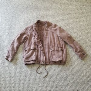free people - Dusty Rose Bomber Jacket